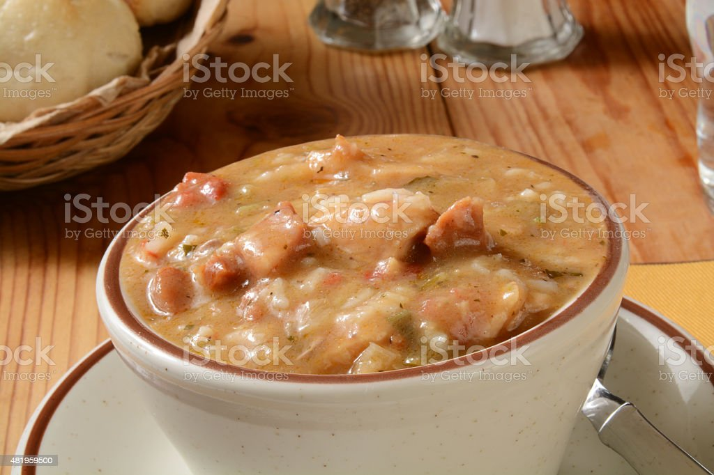 Cup of Gumbo stock photo