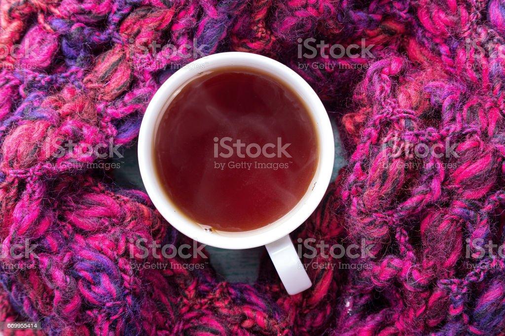 cup of hot black tea stock photo