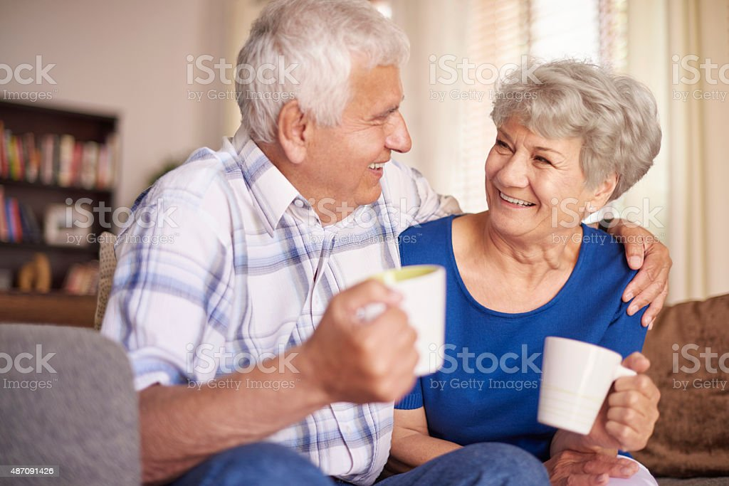 Cup of hot coffee always make us better stock photo