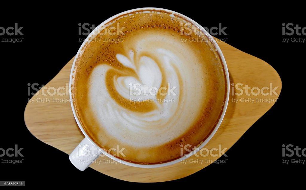 Cup of hot coffee mocca stock photo