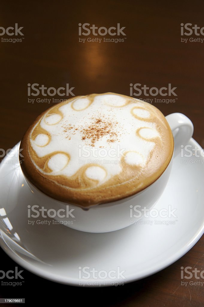 Cup of hot drink royalty-free stock photo