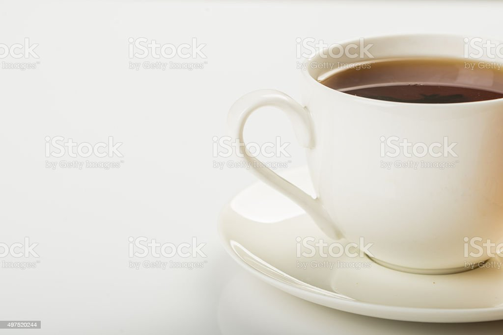 cup of hot drink. stock photo