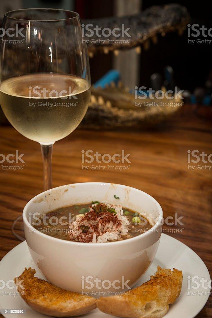 Cup of Jambalaya stock photo
