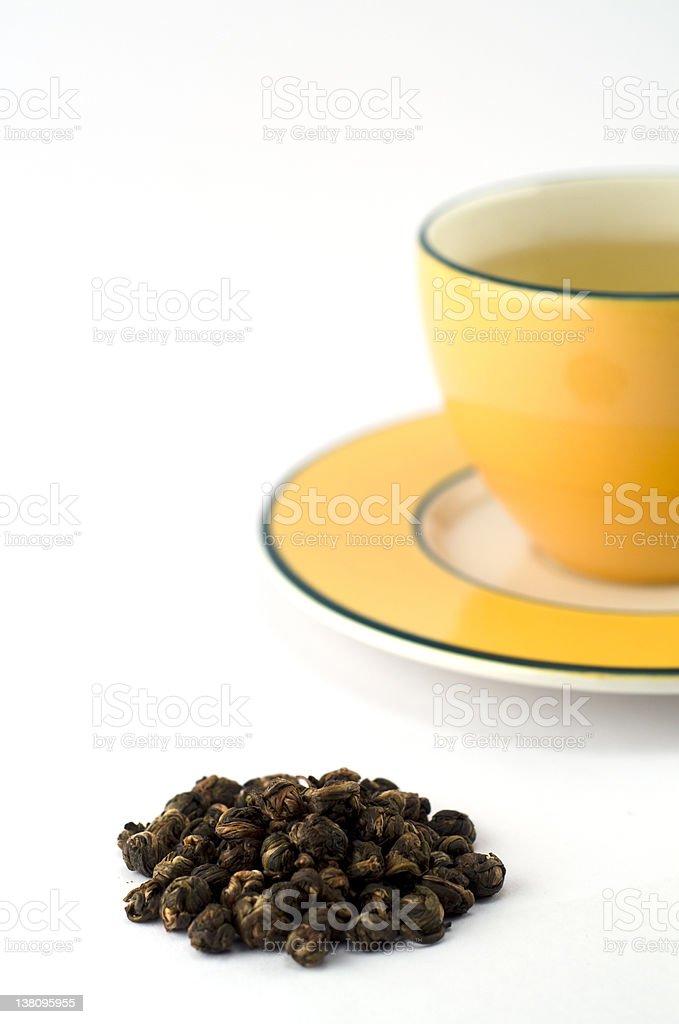 Cup of jasmine green tea royalty-free stock photo