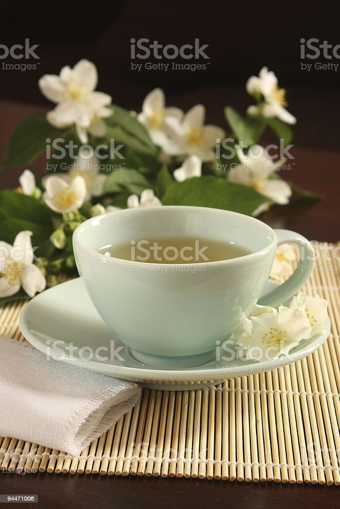 Cup of jasmine tea royalty-free stock photo