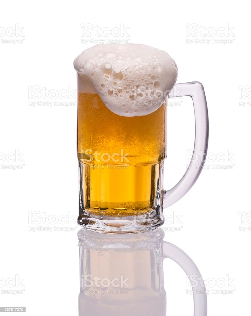 Cup of lager beer. Home Brewing. stock photo