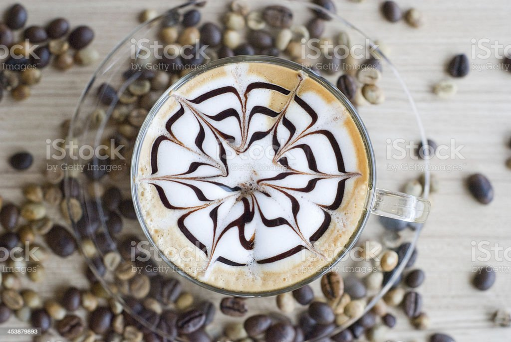 cup of latte art royalty-free stock photo
