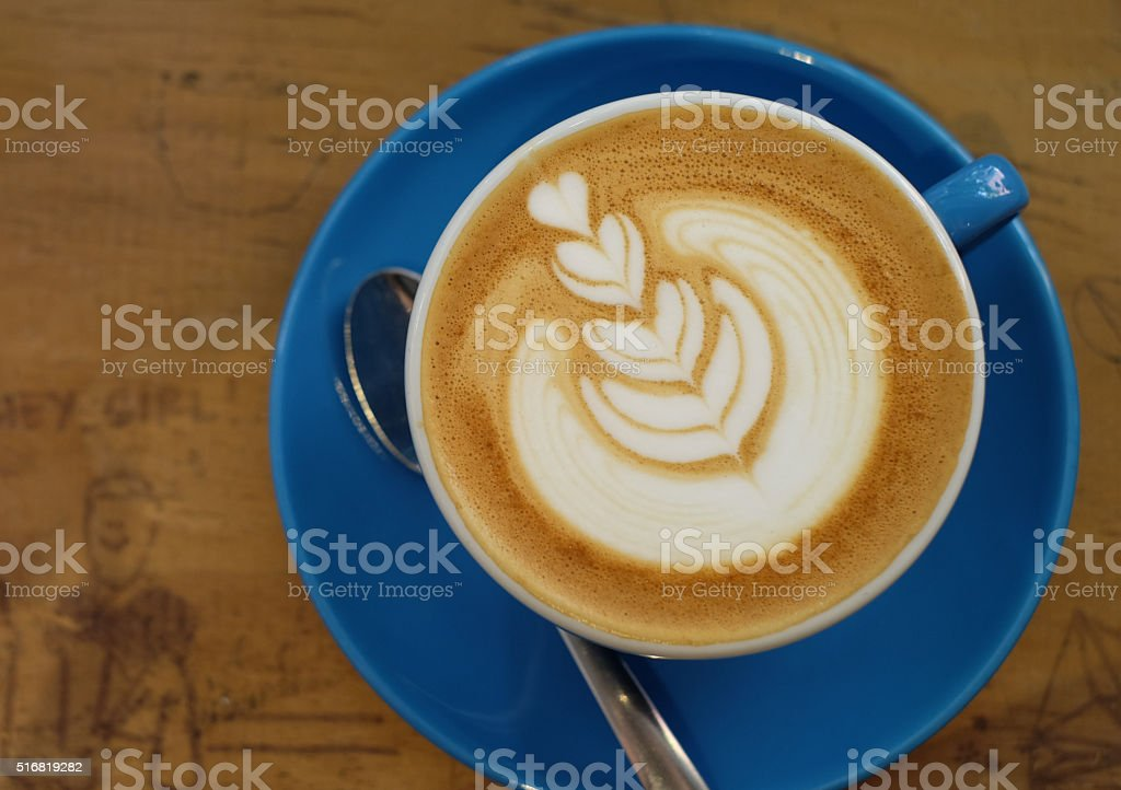 Cup of latte stock photo