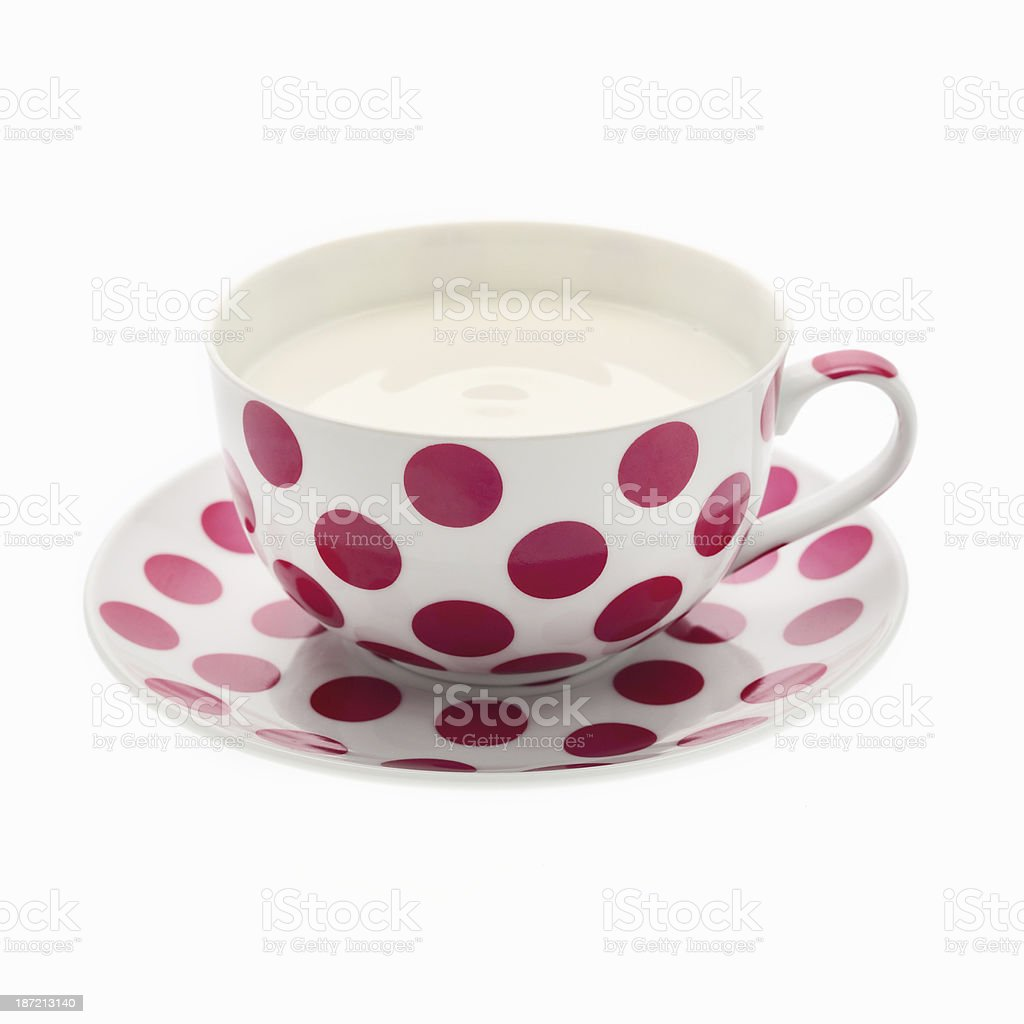 Cup of milk isolated on white background. royalty-free stock photo