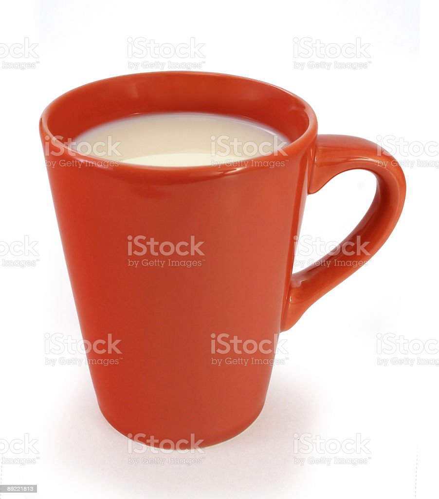 Cup of milk royalty-free stock photo