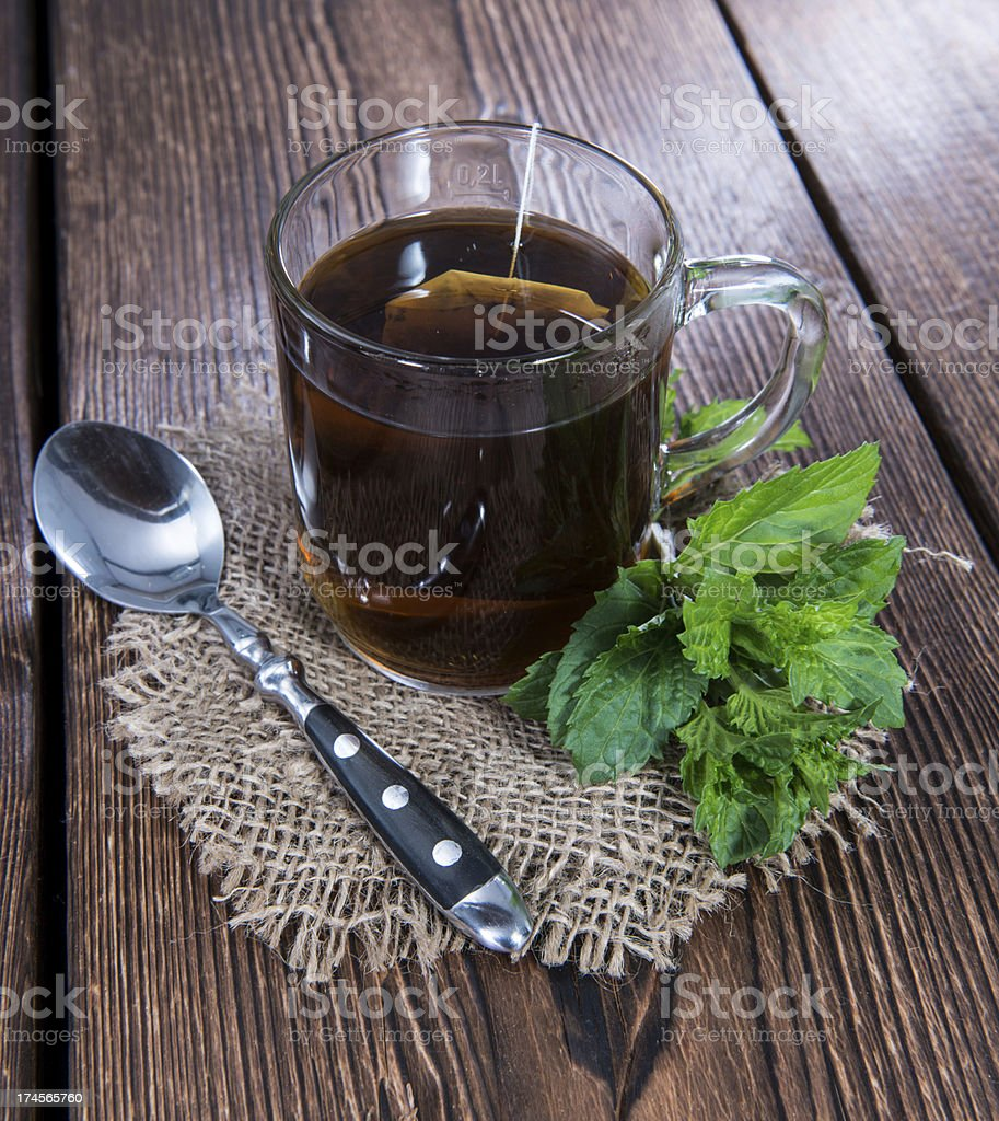Cup of Mint Tea royalty-free stock photo