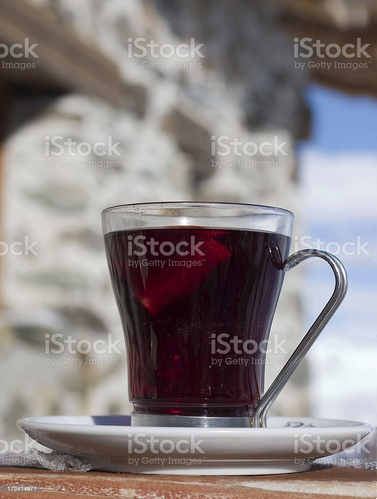 Cup of mulled wine royalty-free stock photo