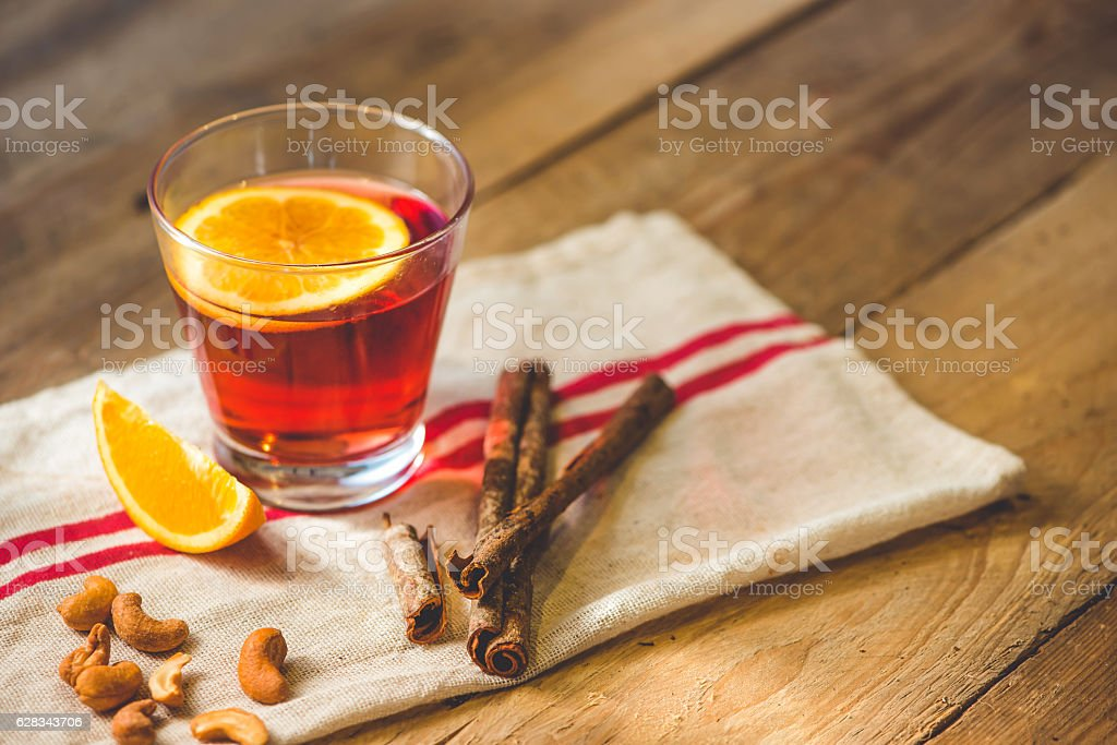 Cup of mulled wine stock photo