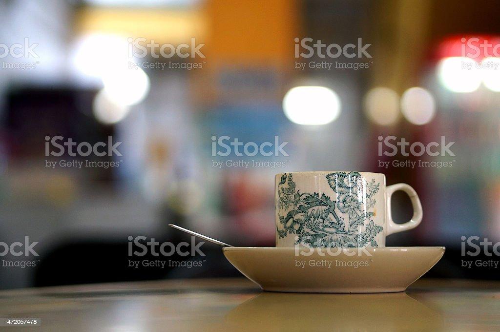 Cup of Nanyang coffee stock photo