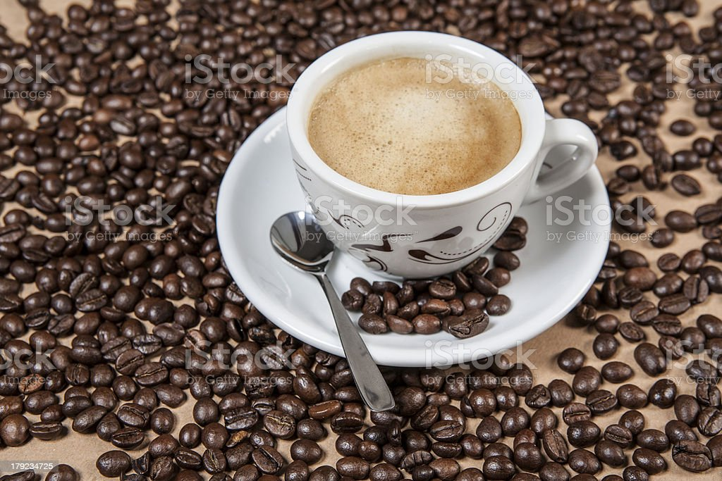 Cup of regular coffee. royalty-free stock photo