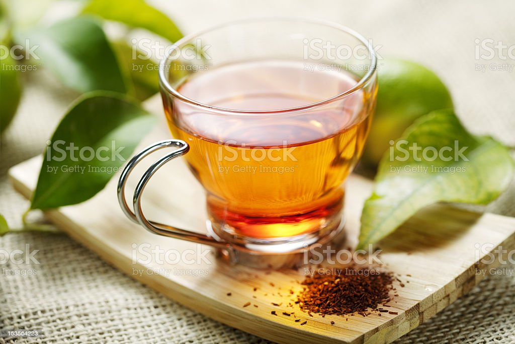 Cup of rooibos tea stock photo