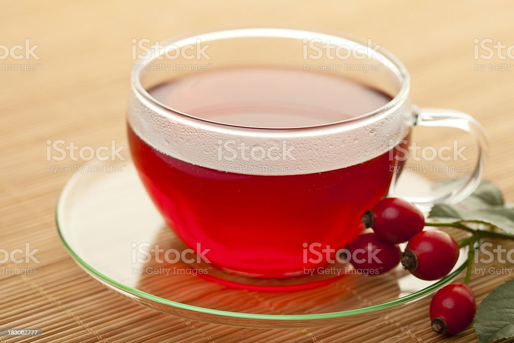 Cup of Rose Hip Tea royalty-free stock photo