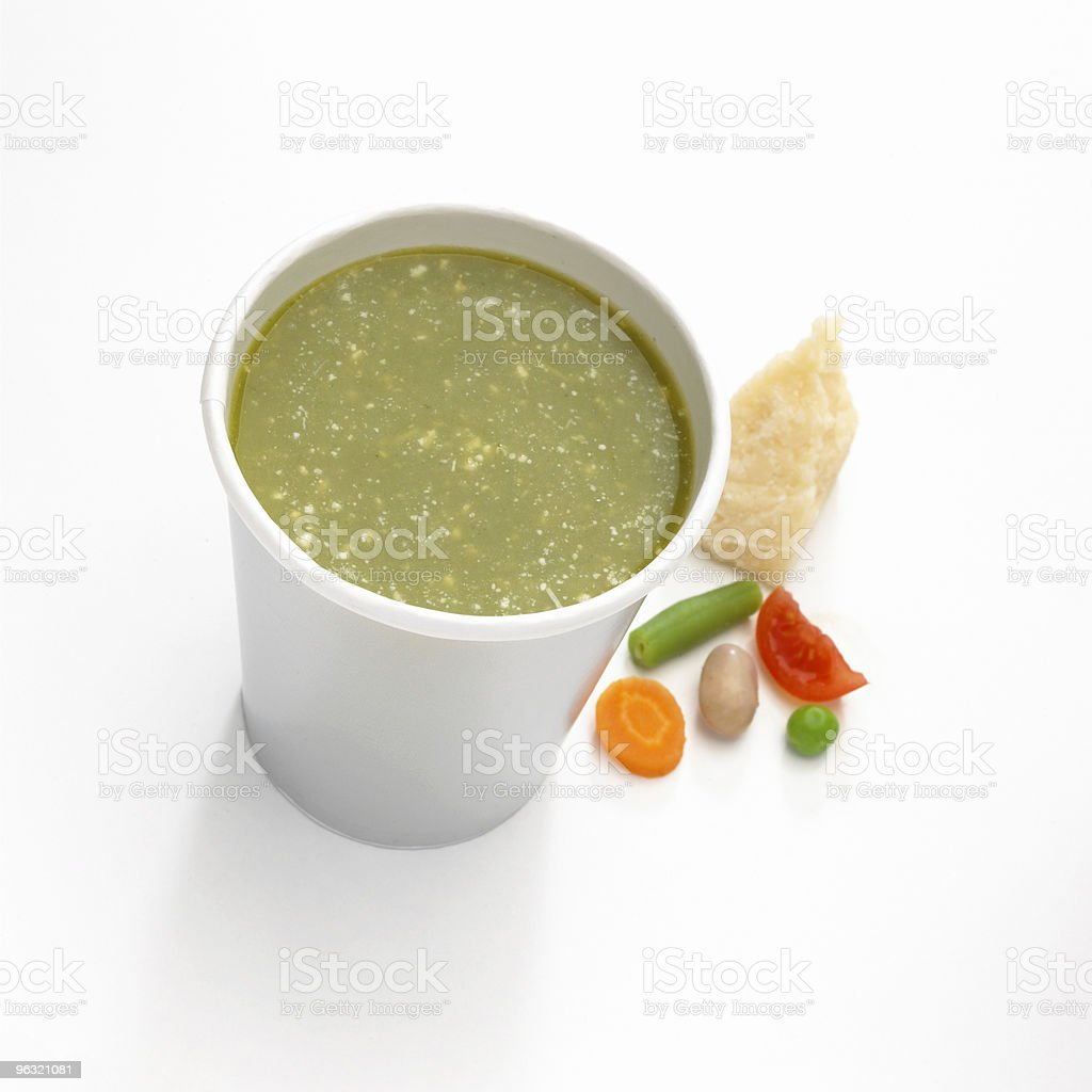 Cup of soup royalty-free stock photo