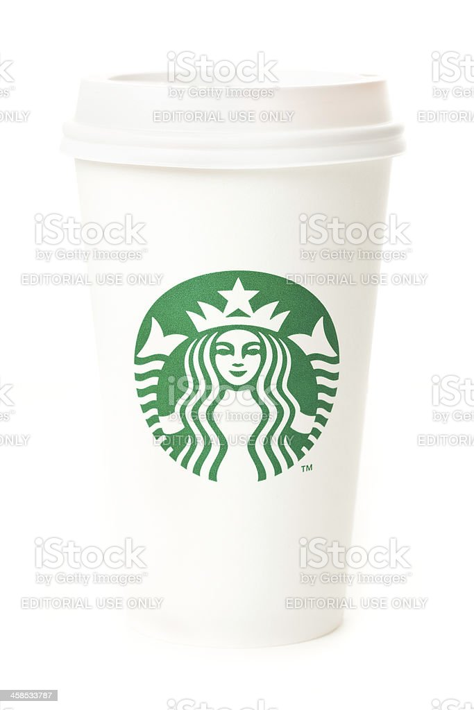 Cup of Starbucks Coffee royalty-free stock photo