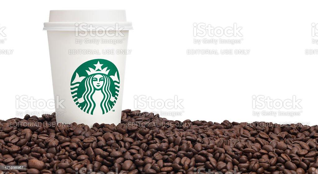 Cup of Starbucks Coffee stock photo