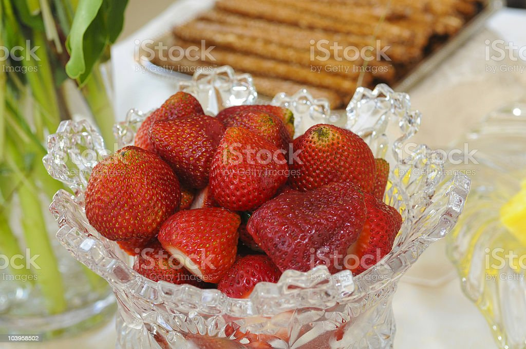 Cup of Strawberry royalty-free stock photo