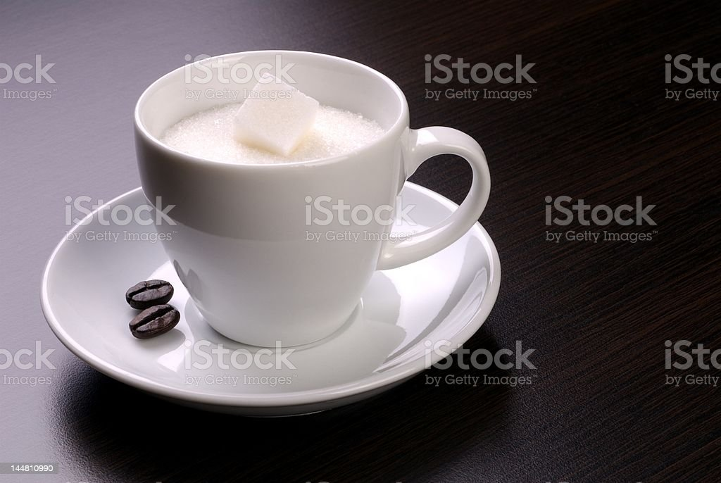 Cup of sugar with two coffee, please! royalty-free stock photo