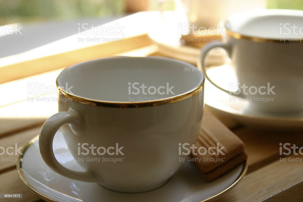 Cup of Tea and Biscuit royalty-free stock photo