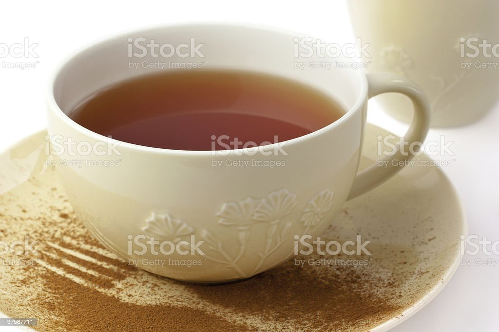 Cup of tea and saucer royalty-free stock photo