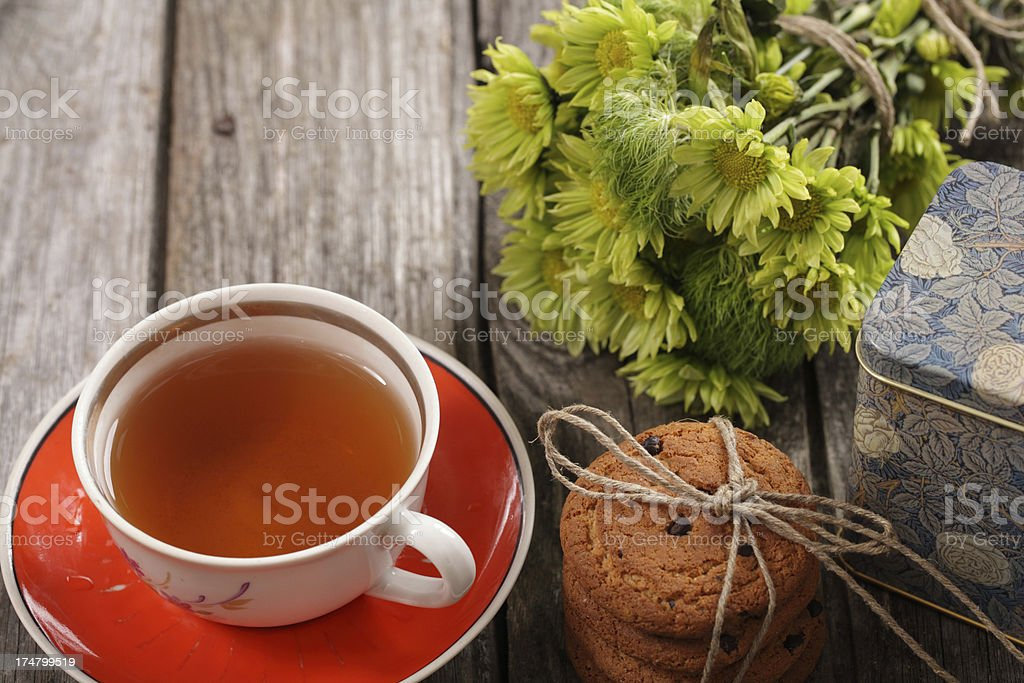 cup of tea on the table royalty-free stock photo