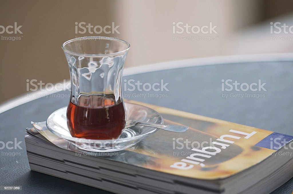 Cup of Turkish Tea royalty-free stock photo