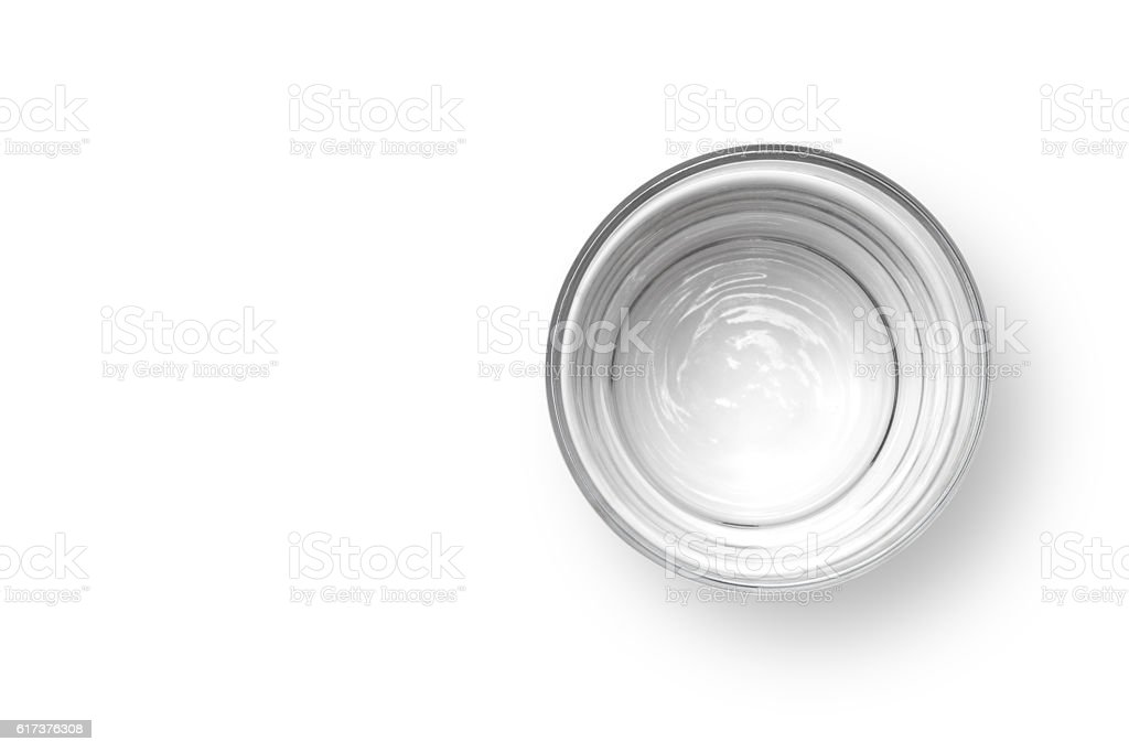 Cup of water stock photo