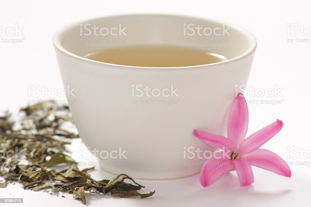 Cup of white tea royalty-free stock photo