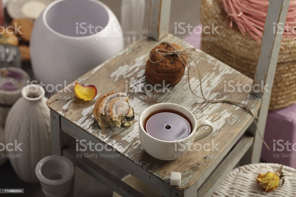 cup on the chair royalty-free stock photo