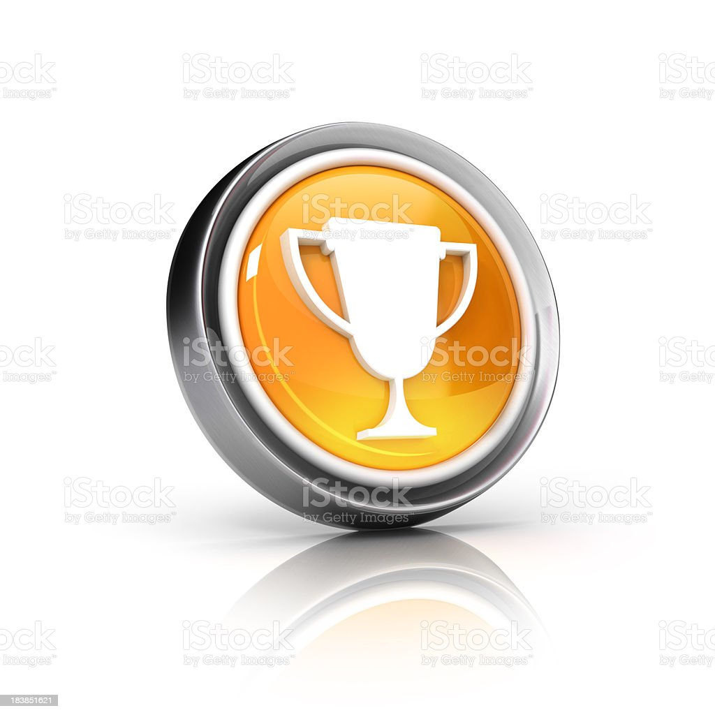 cup or award icon royalty-free stock photo