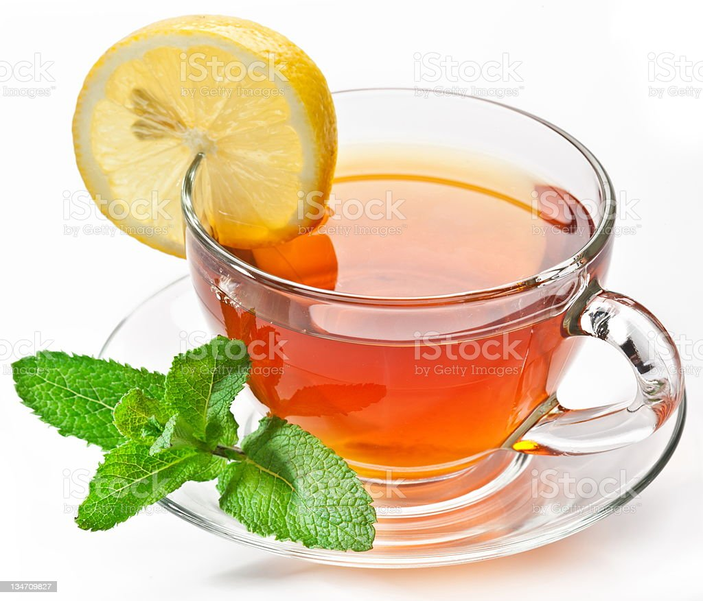 Cup tea with mint. royalty-free stock photo