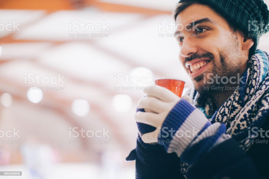 Cup that keeps me warm stock photo