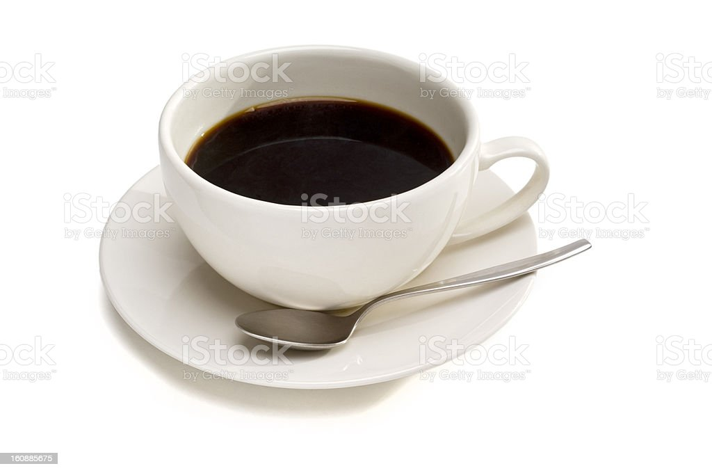 Cup with black coffee, isolated on white royalty-free stock photo