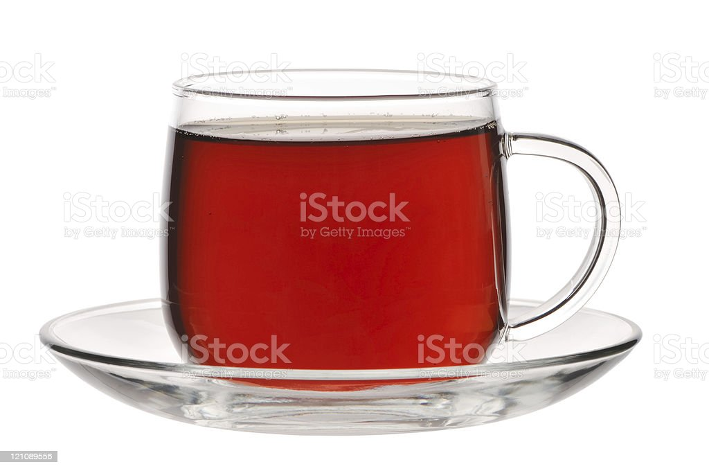 Cup with black tea on a white background royalty-free stock photo