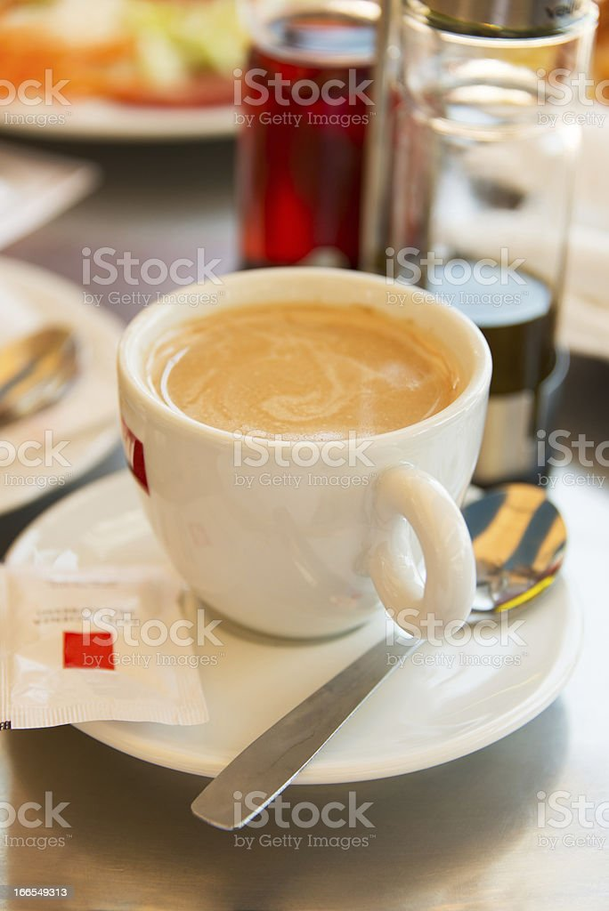 Cup with cappuccino royalty-free stock photo
