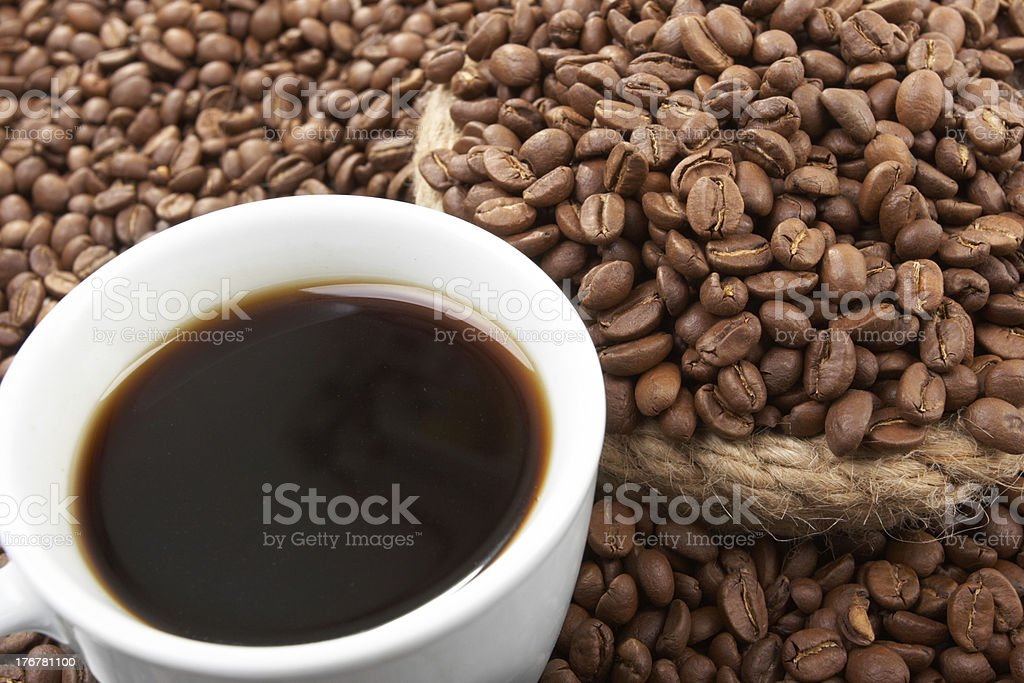 Cup with coffee royalty-free stock photo