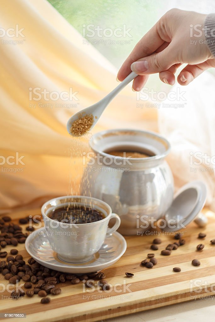 cup with coffee stock photo