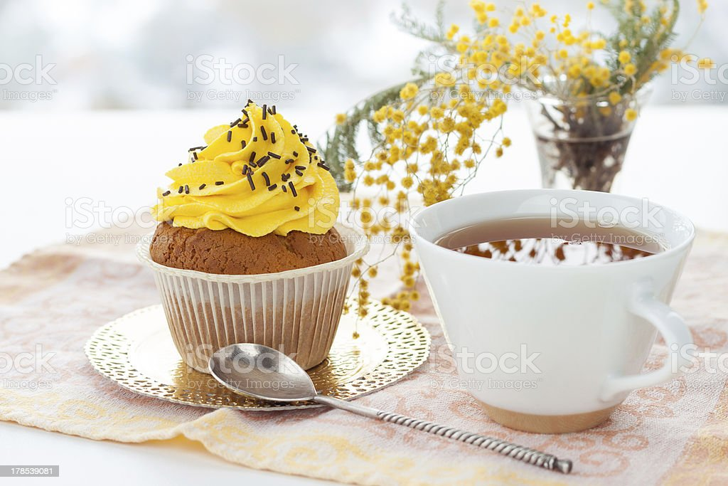 Cup with dessert. royalty-free stock photo