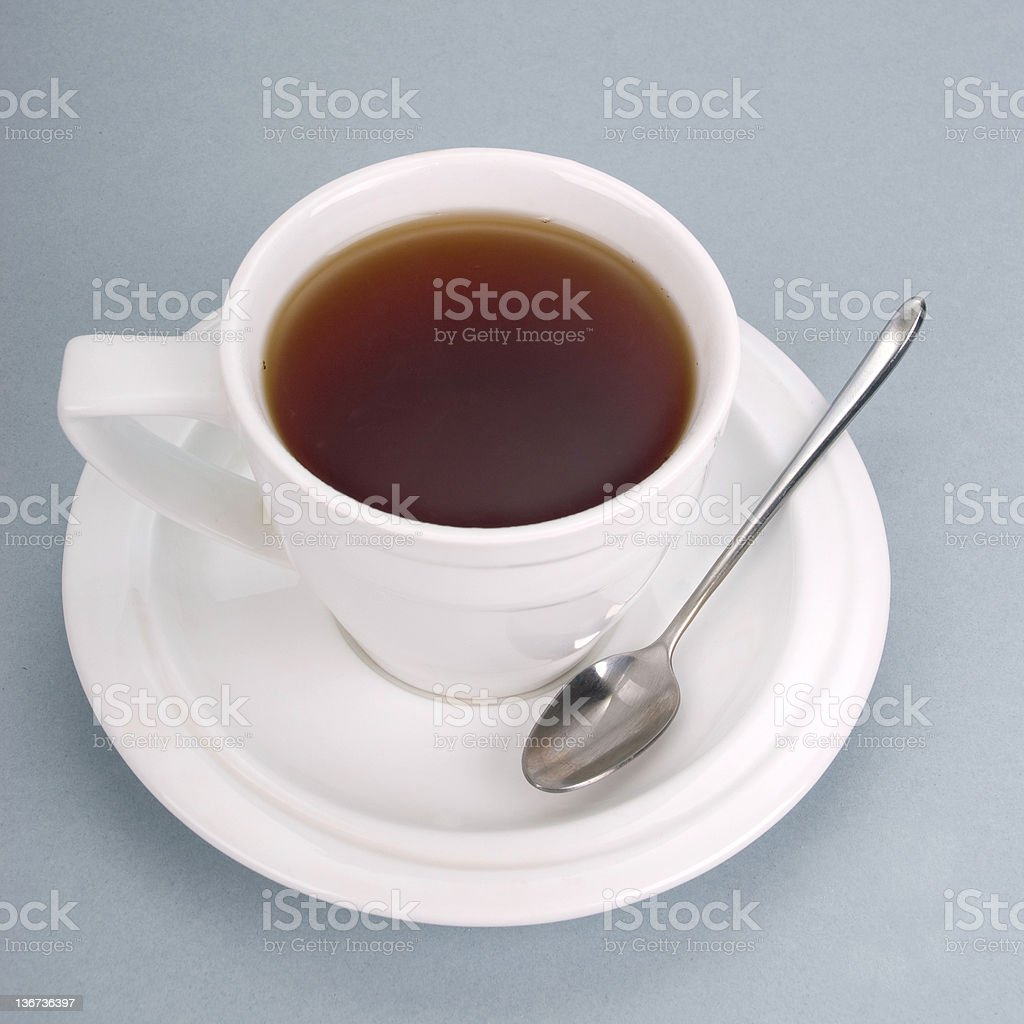 Cup with hot tea royalty-free stock photo