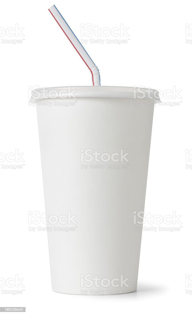 Cup with Lid and Straw royalty-free stock photo
