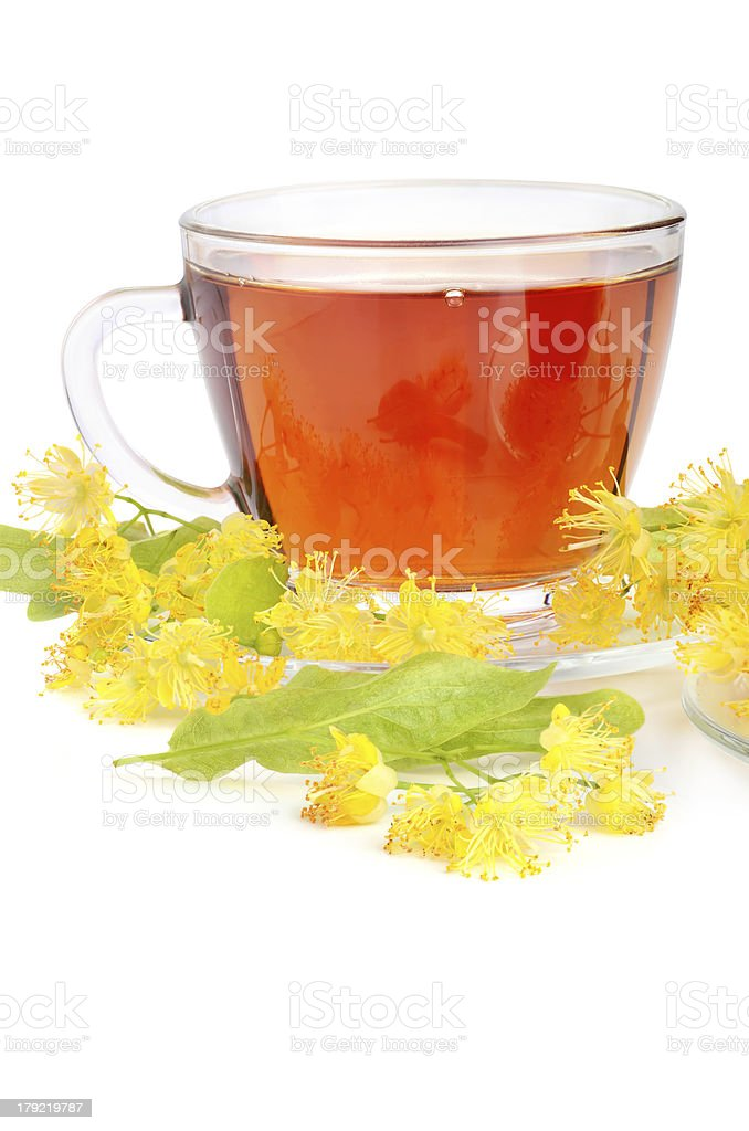 Cup with linden tea royalty-free stock photo