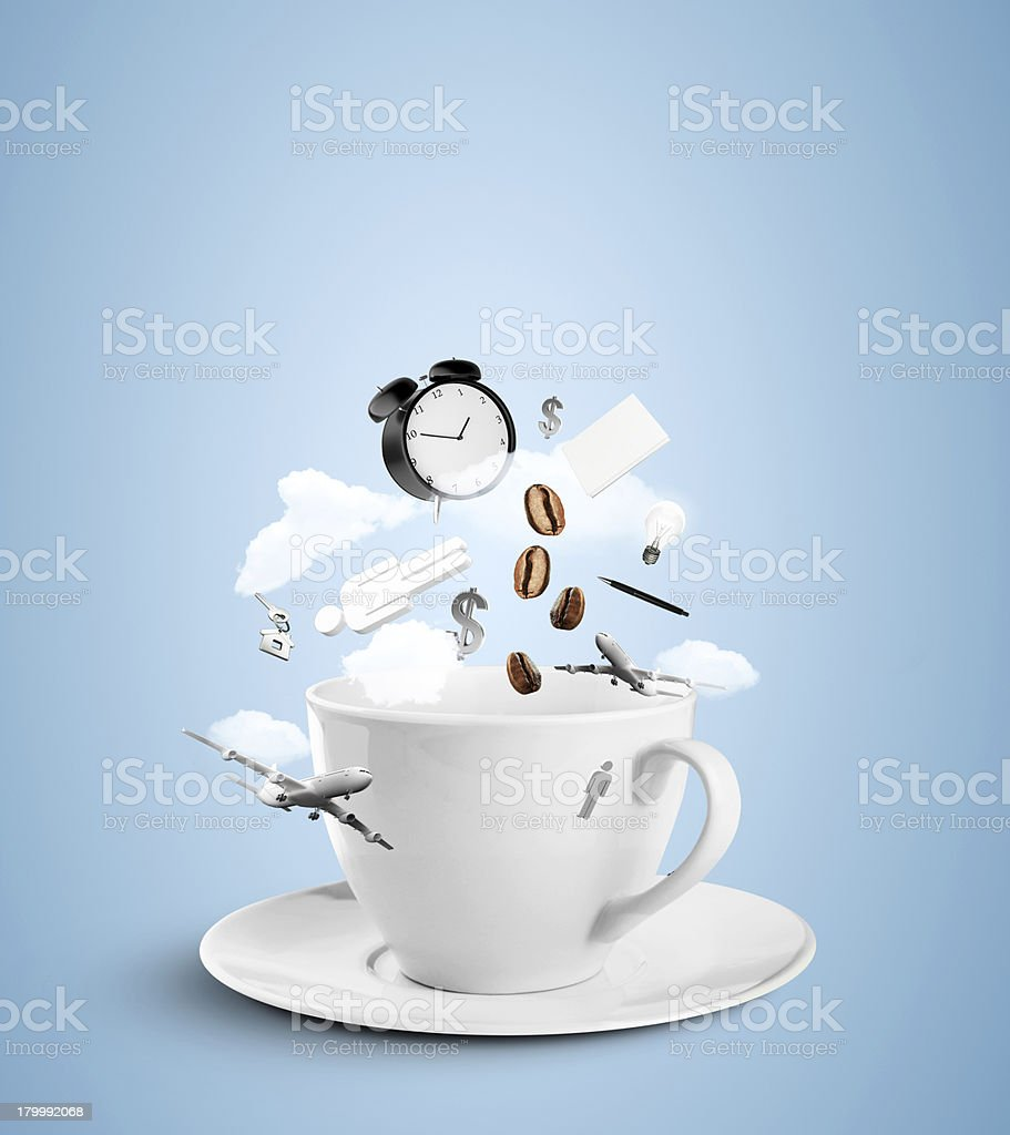 cup with social hurricane stock photo