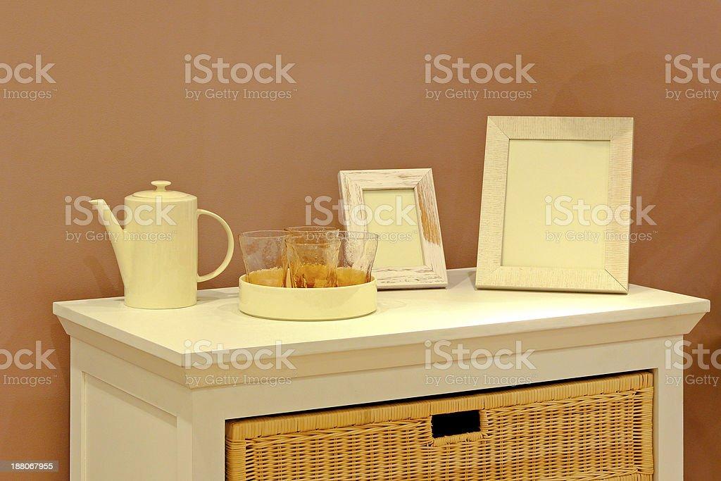 Cupboard stock photo