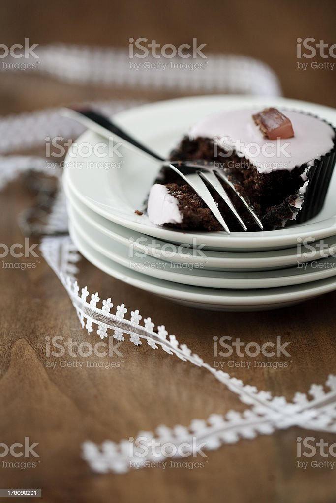 Cupcake and Lace royalty-free stock photo