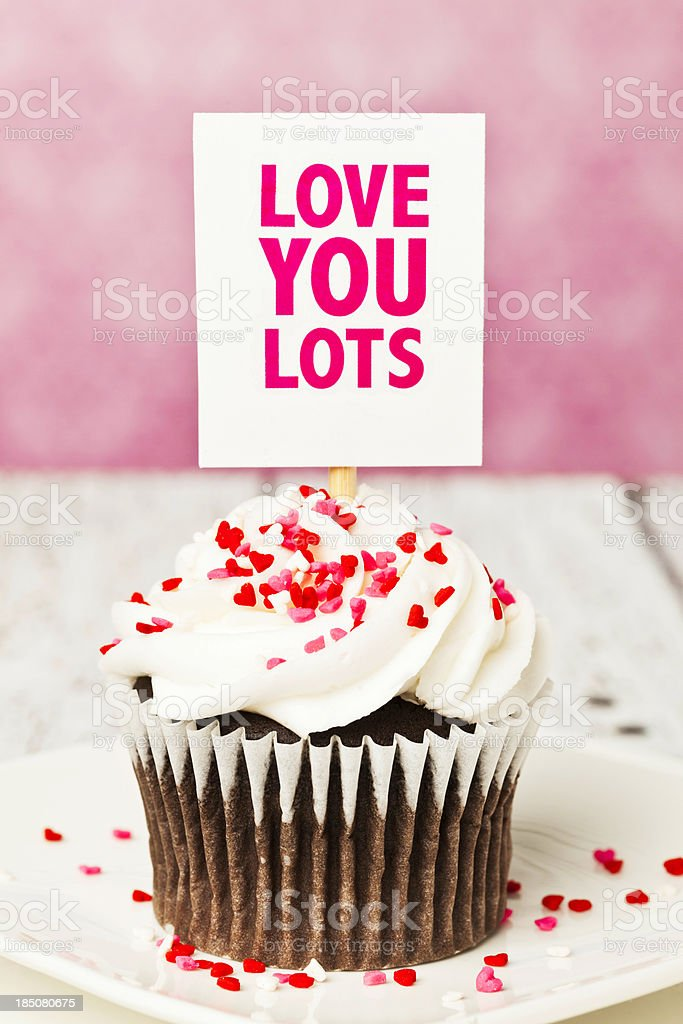 Cupcake and Love royalty-free stock photo