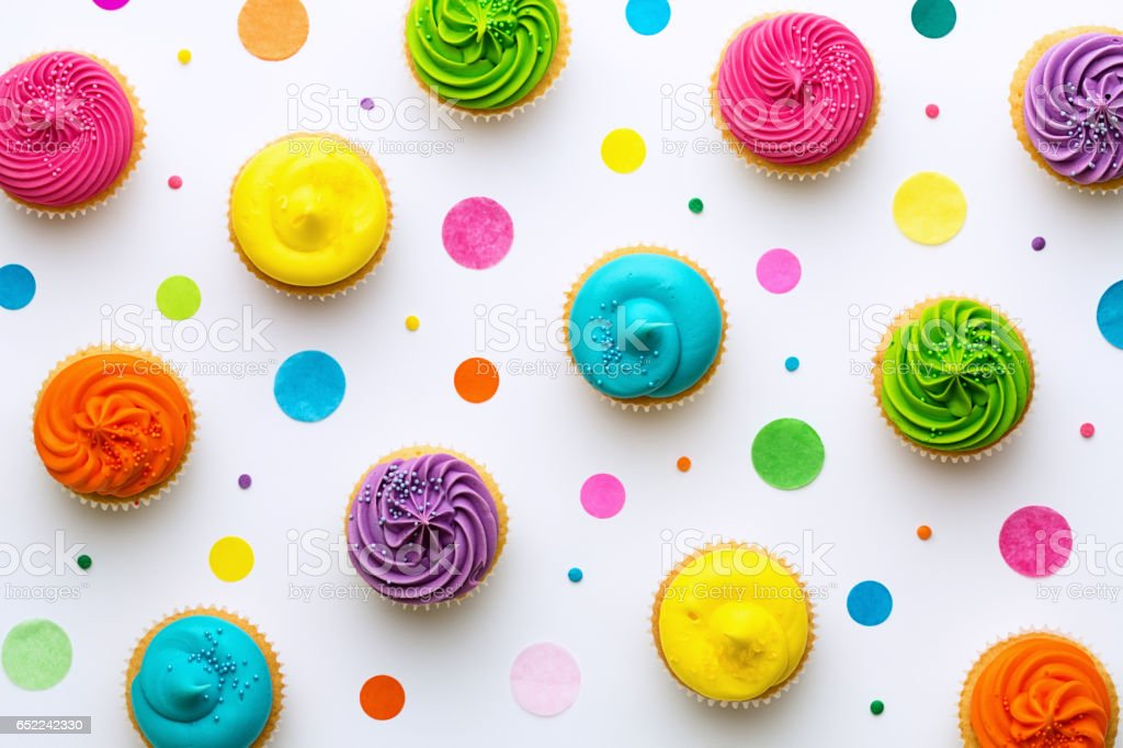 Cupcake background stock photo